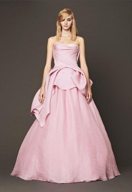 Vestidos de novia rosados Vera Wang