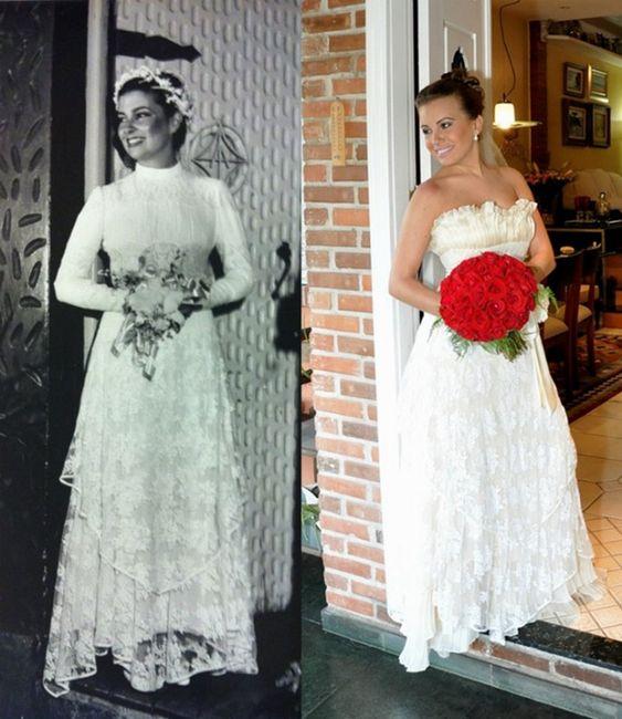 utiliza el vestido de novia de tu madre
