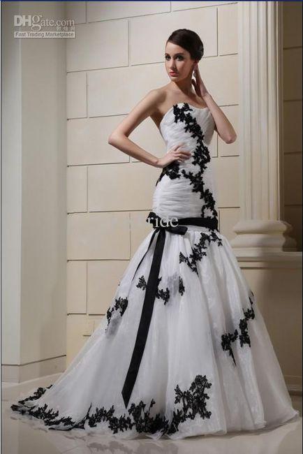 Vestidos de novia blanco y negro para gorditas