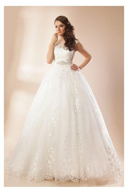 Vestidos para novia con manga corta