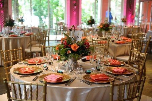 boda en coral y dorado