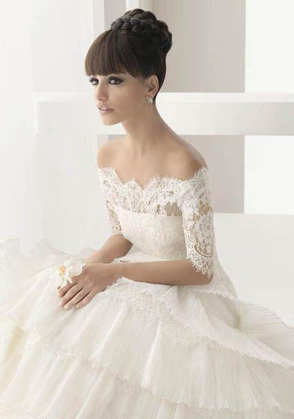 vestidos de novia con escote barco