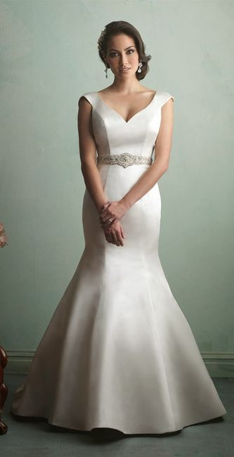 Vestidos para boda de noche corte sirena