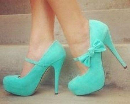 zapatos de novia color turquesa