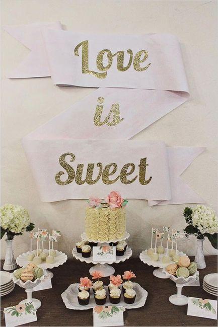 mesa de dulce boda coral y dorada