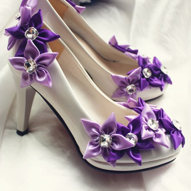 zapatos de novia color morado