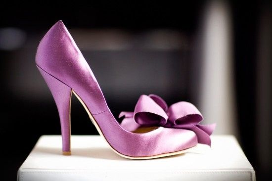 zapatos de novia color morado