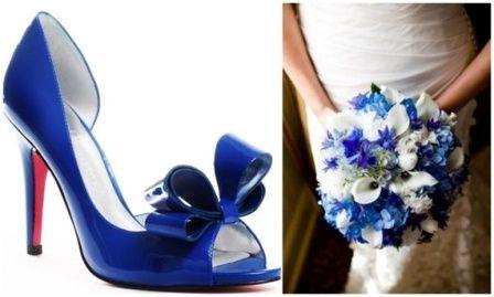 combina tu bouquet con tus zapatos azules