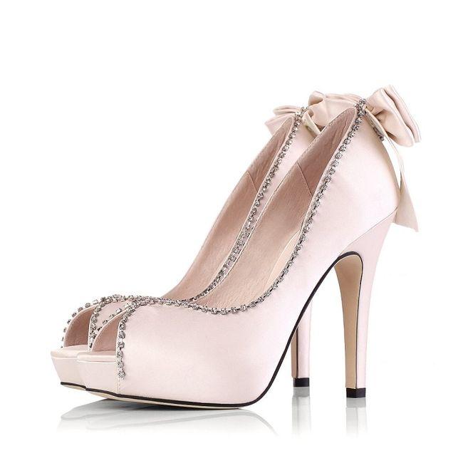 zapatos de novia color rosado