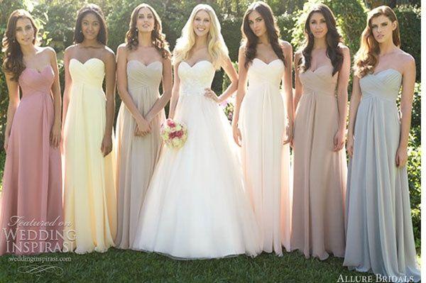 b0f1bef9b Vestidos colores pastel para tus damas de honor
