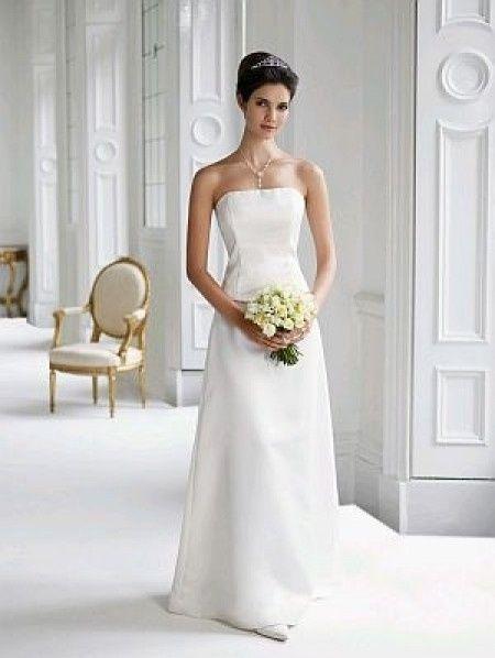 vestidos de novia strapless con escote recto