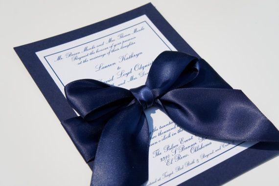 Invitaciones Color Azul