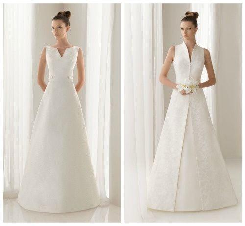 vestidos para novias con caderas anchas