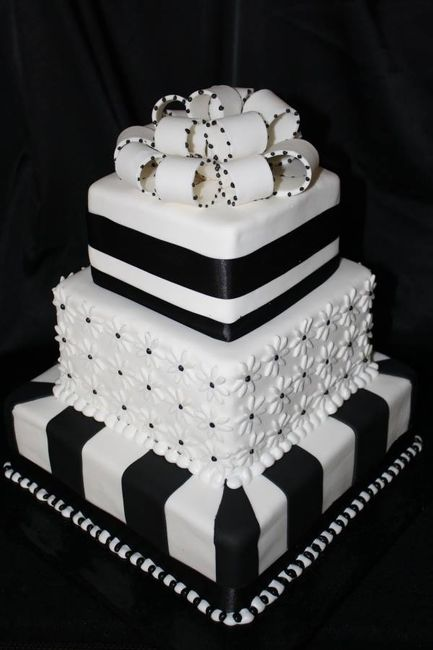 black and white square wedding cake designs 14 tortas para una boda en blanco y negro 11839