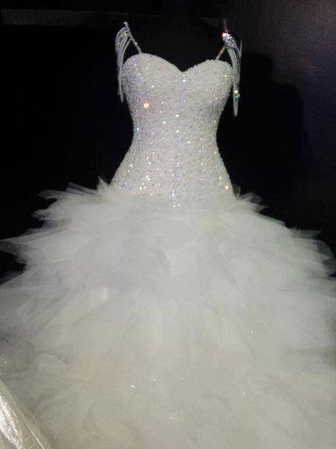 19 vestidos de novia con mucho brillo
