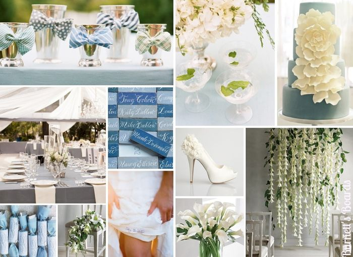 Tu boda en azul y blanco for Baby blue wedding decoration ideas