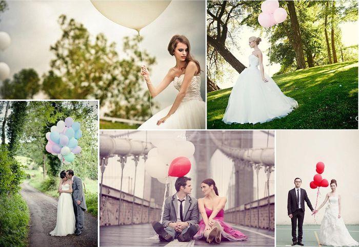 novios, fotos, globos