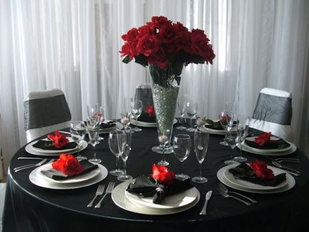 Tu boda en rojo negro y blanco for Decoracion blanco negro rojo