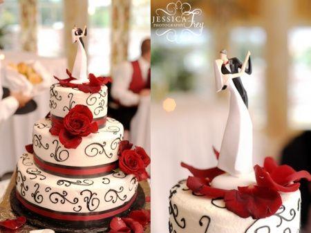 tu boda en rojo, negro y blanco