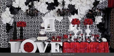 Tu boda en rojo negro y blanco - Decoracion blanco negro rojo ...