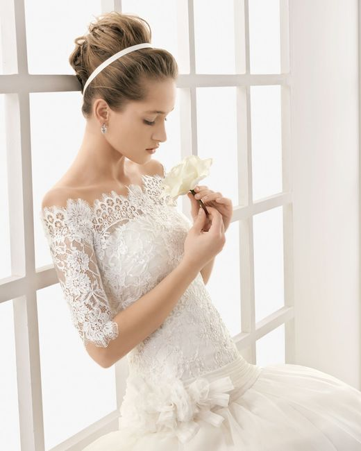 vestidos de novia manga tres cuartos