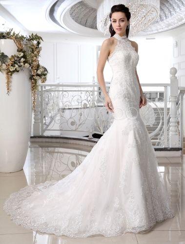 vestido de novia, cola barrida