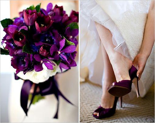 0bae8e1d Combina tu bouquet con tus zapatos morados