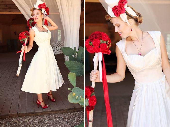 combina tu bouquet con tus zapatos rojos