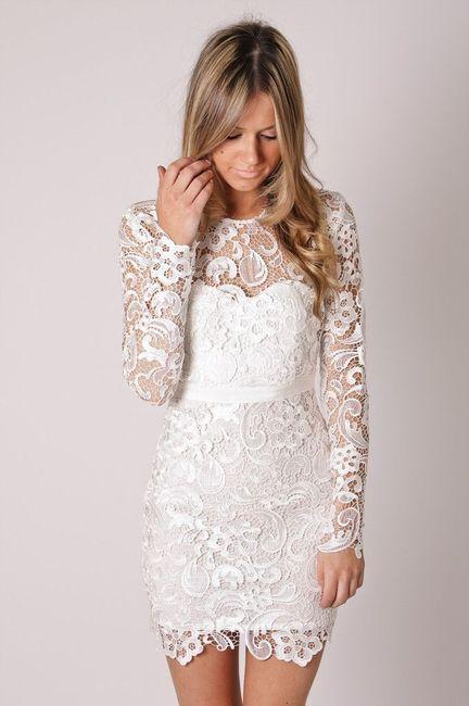Vestido novia civil corto blanco