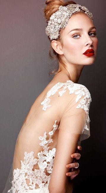 novia, labios rojos, maquillaje