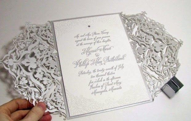 Invitaciones De Matrimonio Troqueladas