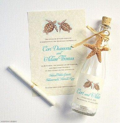Invitaciones De Matrimonio En Botellas - Invitaciones-de-boda-en-botella