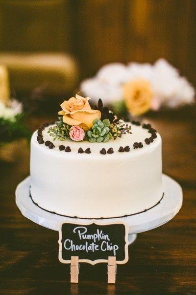 8. Torta de matrimonio de otoño