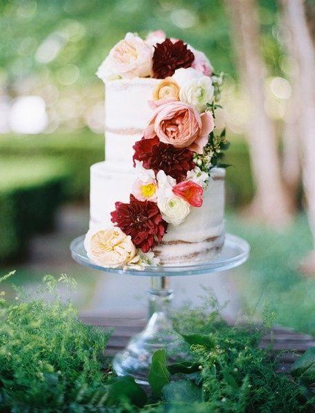9. Torta de matrimonio de otoño