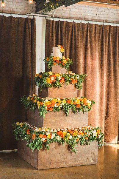 14. Torta de matrimonio de otoño