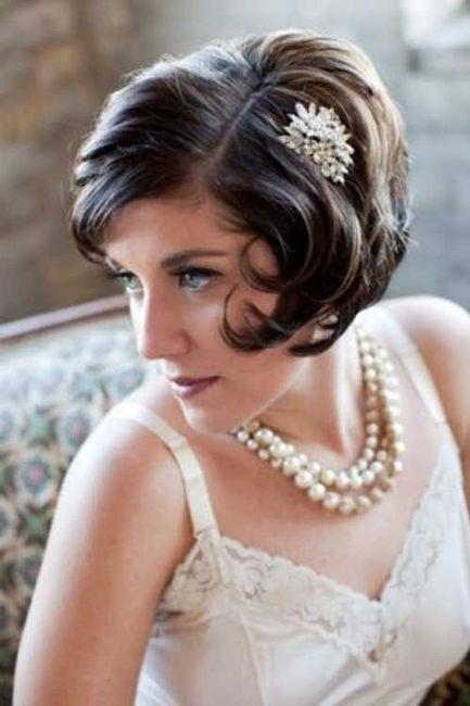 Peinados de novias en cabello corto