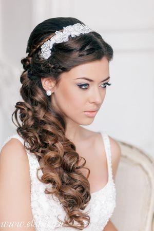 Peinado novia a un lado