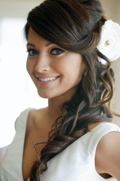 Peinados al lado para novias