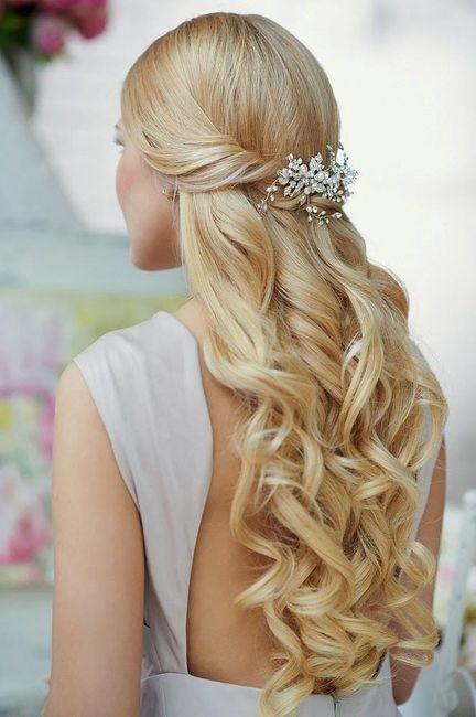 Peinados para novia medio recogido