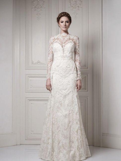 10 vestidos de novia manga larga de encajes