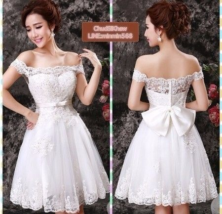 vestidos de novia para el civil cortos y románticos