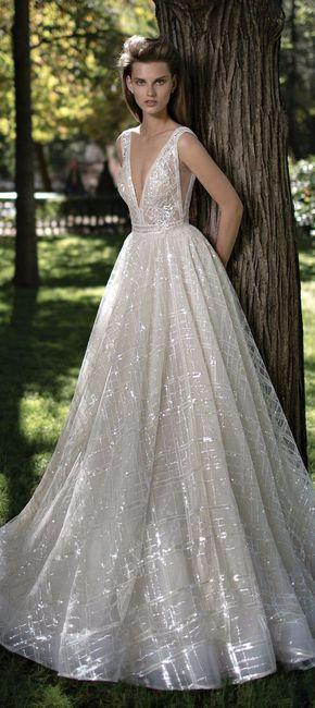 vestido de novia con encaje o con brillo?