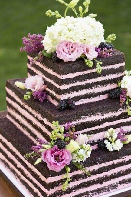 Torta De Matrimonio Flores Naturales O De Azucar