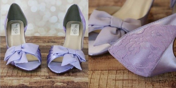 zapatos lilas para novia. vota tu preferido