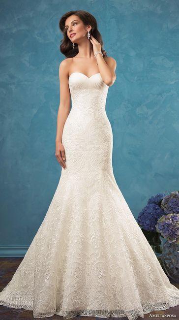Vestido de novia sirena 2017 Amelia Sposa