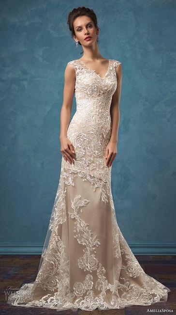 Vestido de novia corte evasé 2017 Amelia Sposa