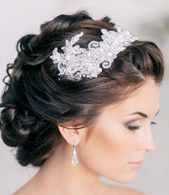 Peinados de boda pelo negro