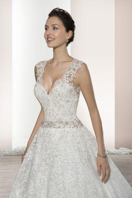 escote en v para tu vestido de novia