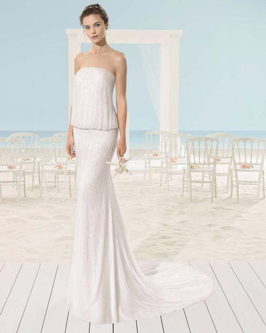escote palabra de honor para tu vestido de novia