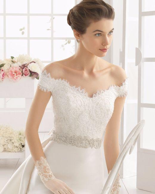 Vestidos de novia a los hombros